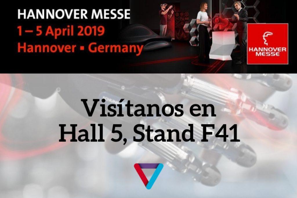 Visitanos en Hannover Messe 2019 Vixion Connected Machine